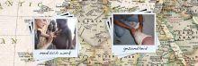 landkaart met fotos van bekende plekken