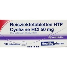 Reisziekte Tabletten Cyclizine